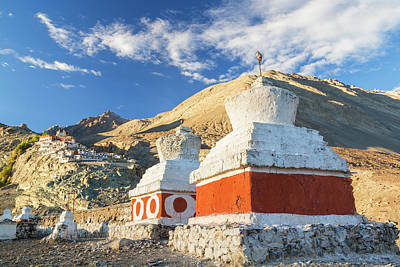 Tibetan Buddhism Photograph - Deskit Monastery, Ladakh, India by Peter Adams