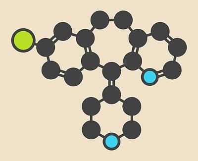 Desloratadine Antihistamine Drug Molecule Art Print by Molekuul