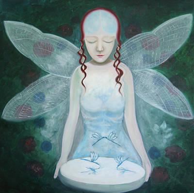 Libellule Painting - Desmoiselle Libellule by Tone Aanderaa