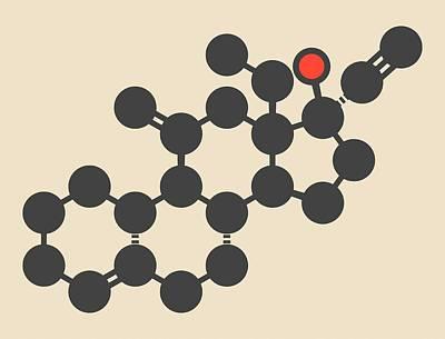 Pill Photograph - Desogestrel Birth Control Pill Molecule by Molekuul