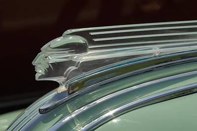 Art Print featuring the photograph Desoto Hood Ornament  by Craig Perry-Ollila