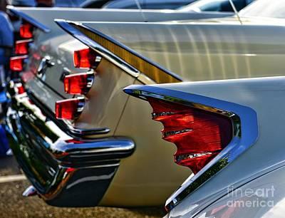 Art Dealer Photograph - Desoto Tail Fins by Paul Ward