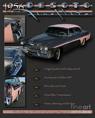 Photograph - Desoto Vanity Poster Layout by Peter Piatt