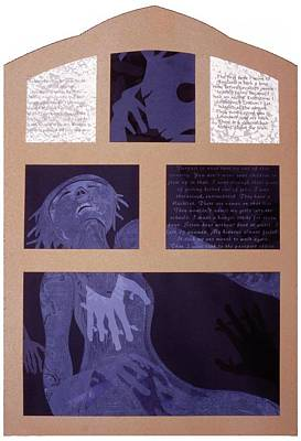 Printmaking Mixed Media - Despair by Robin Holder