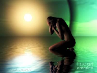 Digital Art - Despair by Sandra Bauser Digital Art
