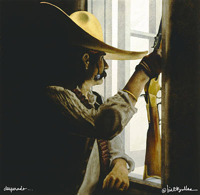 Bandit Painting - Desperado... by Will Bullas