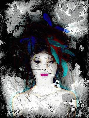 Digital Woman Painting - Despite All by Gun Legler