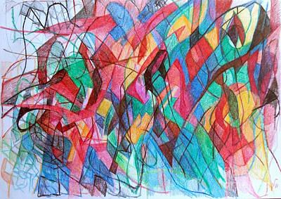 Creativity Drawing - Despite Appearances 1 by David Baruch Wolk