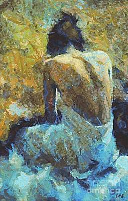 Nude Painting - Despondence by Dragica  Micki Fortuna