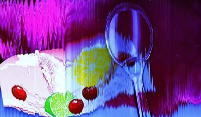 Lemon Mixed Media - Dessert And Spoon by Anne-Elizabeth Whiteway