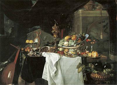 Painting - Dessert Still Life by Jan Davidsz de Heem