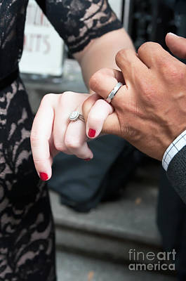 Photograph - Destination Wedding Hands New Orleans by Kathleen K Parker