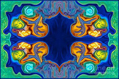 Destiny Unfolding Into An Abstract Pattern Art Print by Omaste Witkowski