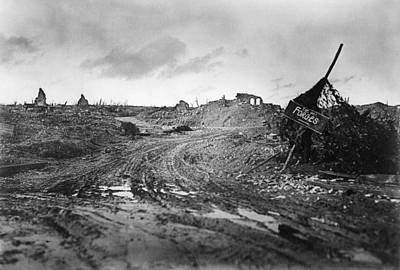 1910s Photograph - Destroyed Village by Library Of Congress