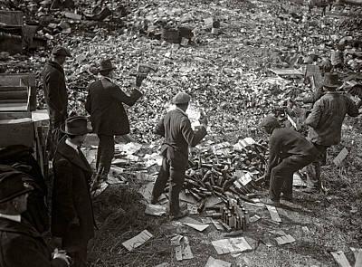 Destruction Of Prohibited Liquor 1923 Print by Daniel Hagerman
