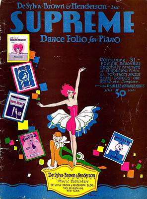 Desylva Brown And Henderson Supreme Dance Folio Art Print by Mel Thompson