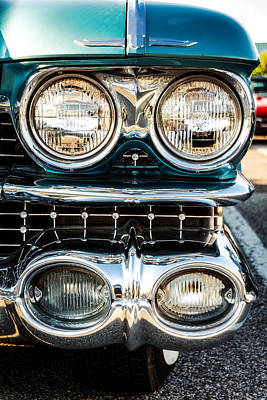 Chrome Bumper Photograph - Detail - 1959 Cadillac Sedan Deville Series 62 Grill by Jon Woodhams