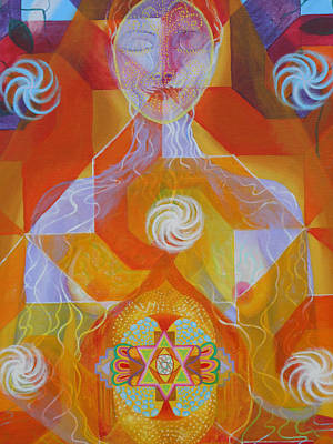 Painting - Detail 1 Gestation by Anne Cameron Cutri