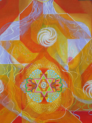 Painting - Detail 2 Gestation by Anne Cameron Cutri