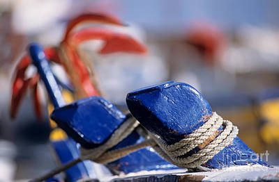 Ropes Photograph - Detail From Fishing Boat by George Atsametakis