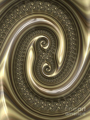 Embossed Digital Art - Detail From Repousse In Bronze by John Edwards