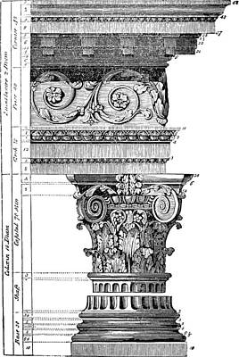 Detail Of A Corinthian Column And Frieze I Art Print by Suzanne Powers
