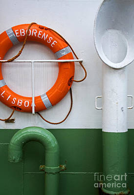 Buoy Photograph - Detail Of A Ferry Eborense by Jose Elias - Sofia Pereira