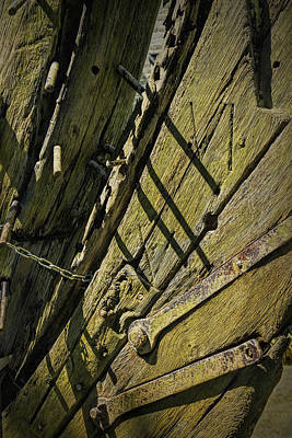 Photograph - Detail Of A Part Of An Old Wrecked Ship by Randall Nyhof
