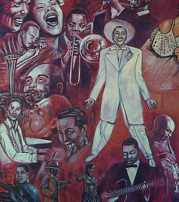 Painting - Detail Of African American Mural by George Pedro
