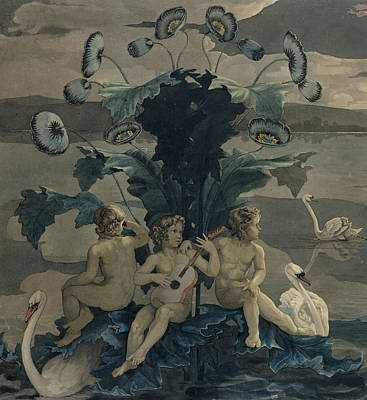 Cherub Painting - Detail Of Arion's Sea Journey by Philipp Otto Runge