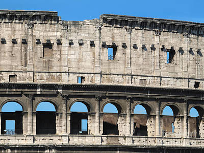 Detail Of Colosseum Facade Art Print by Kiril Stanchev