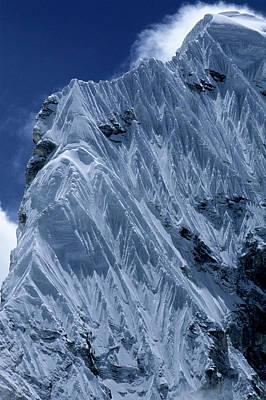 Detail Of Corniced Ridge. Nepal Art Print