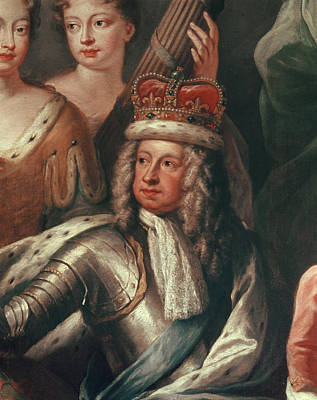 Detail Of George I From The Painted Hall, Greenwich Art Print by Sir James Thornhill