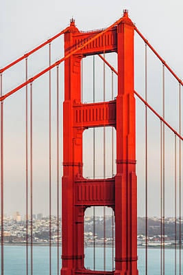 Cityscapes Photograph - Detail Of Golden Gate Bridge, San by Deimagine