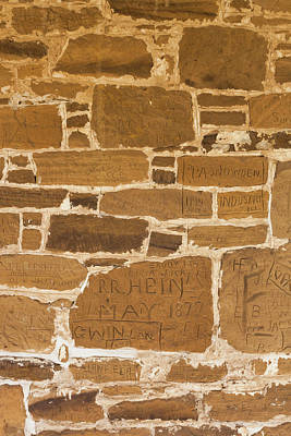 Historic Site Photograph - Detail Of Graffiti Wall, Fort Larned by Panoramic Images