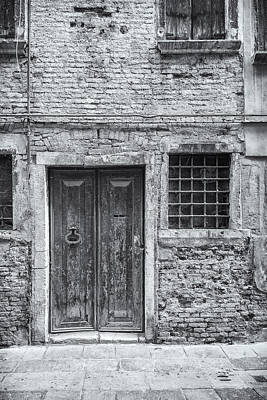 Detail Of Old Facade In Venice Art Print by Francesco Rizzato