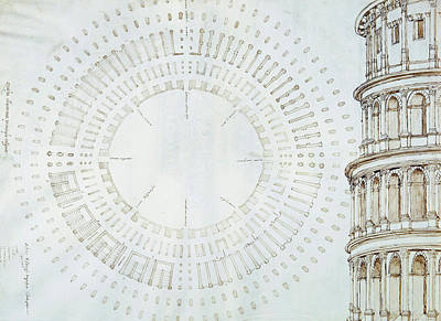 Shape Drawing - Detail Of Study With Map And Relief Of Colosseum by Giuliano da Sangallo