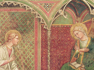 Detail Of The Annunciation Art Print