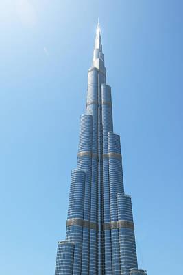 City Of Dubai Photograph - Detail Of The Burj Khalifa Dubai by Ian Cumming