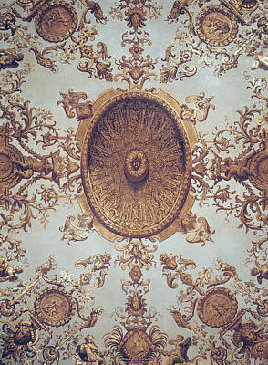 Xvi Painting - Detail Of The Ceiling In The Grand Salon by French School