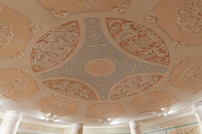 Detail Of The Conference Room Ceiling Art Print by Panoramic Images