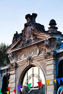 Detail Of The Covered Market, Narbonne Art Print by Panoramic Images