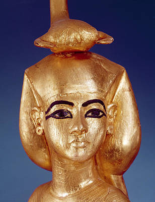 Detail Of The Goddess Selket From The Canopic Shrine, From The Tomb Of Tutankhamun Art Print