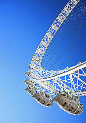 Photograph - Detail Of The London Eye by Adina Tovy