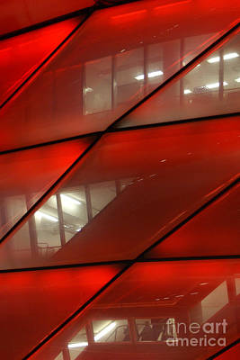 Photograph - detail of the Munich soccer arena by Rudi Prott