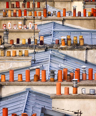 Detail Of Traditional Rooftops In Paris Art Print