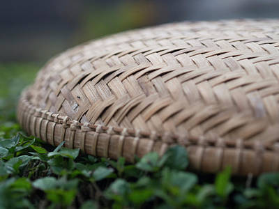 Third-oldest Photograph - Detail Of Woven Basket In Hoi An by David H. Wells
