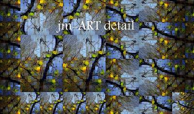 Photograph - detail of Woven Blue and Gold Mosaic by Jodie Marie Anne Richardson Traugott          aka jm-ART