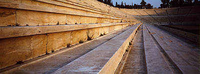 Athletic Photograph - Detail Olympic Stadium Athens Greece by Panoramic Images