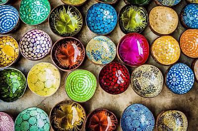 Detail Shot Of Colorful Bowls Art Print by Nam Bui Anh / Eyeem